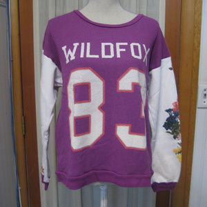 "Wildfox ""83 '""Floral Sweatshirt Size Small"